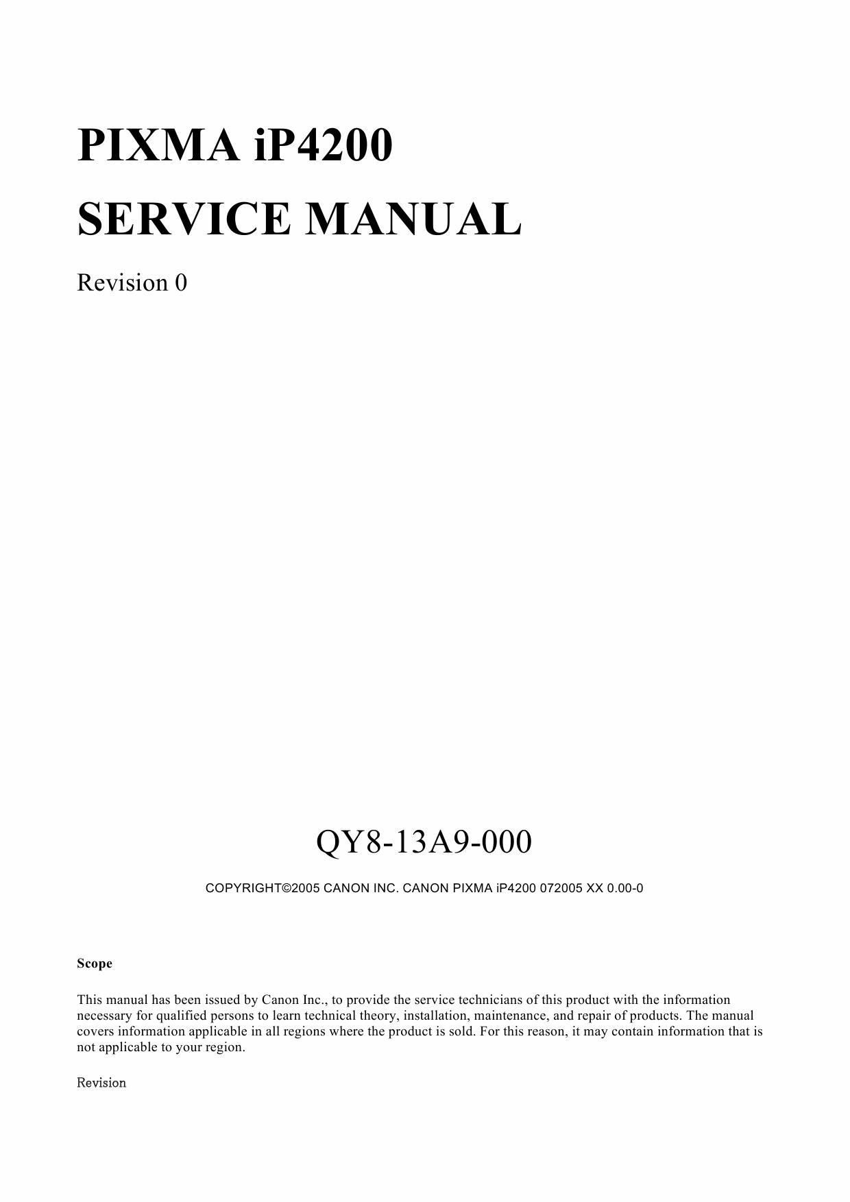 canon pixma ip4200 manual pdf